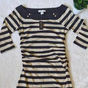 NWT White House Black Market 3/4 sleeve dress